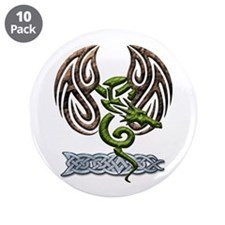 """Tribal Dragon 3.5"""" Button (10 pack)"""