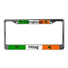 Finlay in Irish & English License Plate Frame