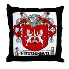 Finnegan Coat of Arms Throw Pillow