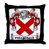 Fitzgerald Coat of Arms Throw Pillow