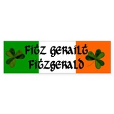 Fitzgerald in Irish & English Bumper Bumper Sticker