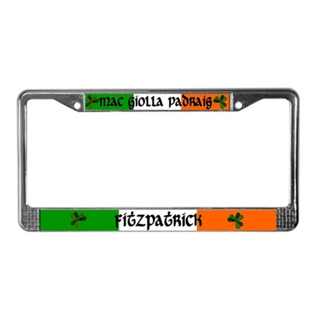 Fitzpatrick in Irish & English License Plate Frame