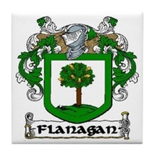 Flanagan Coat of Arms Ceramic Tile