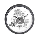 Give Peace Scene a Chance Wall Clock
