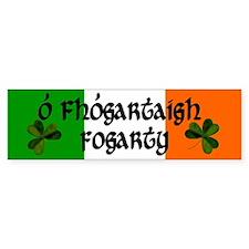 Fogarty Irish & English Bumper Bumper Sticker