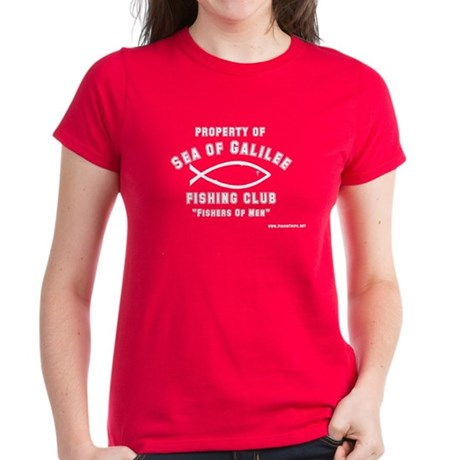 Sea of Galilee Fishing Club Women's Dark T-Shirt