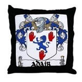 Adair Coat of Arms Throw Pillow
