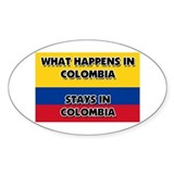 What Happens In COLOMBIA Stays There Decal