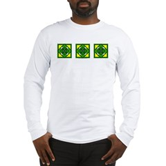 Green Flower Design Long Sleeve T-Shirt