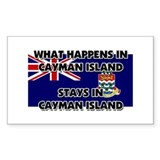 What Happens In CAYMAN ISLAND Stays There Decal