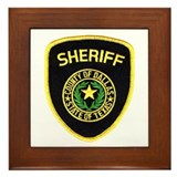 Dallas County Sheriff Framed Tile