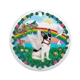 Rainbow2-Rat Terrier Ornament (Round)