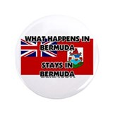 "What Happens In BERMUDA Stays There 3.5"" Button"