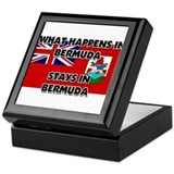 What Happens In BERMUDA Stays There Keepsake Box