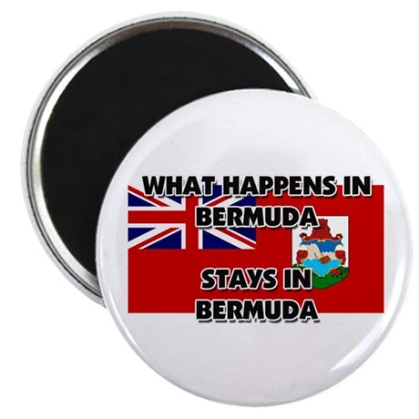 "What Happens In BERMUDA Stays There 2.25"" Magnet ("