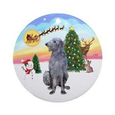 The Take Off - Scottish Deerhound Ornament (Round)