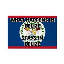 What Happens In BELIZE Stays There Rectangle Magne