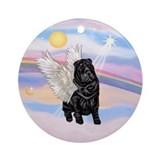 Black Chinese Shar Pei Ornament (Round)
