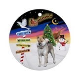 XmasSigns-ShibaInu (std) Ornament (Round)