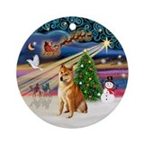 Xmas Magic - Shiba Inu Ornament (Round)