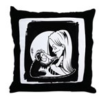 Gillian and Pal Throw Pillow