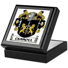 Carroll Coat of Arms Keepsake Box