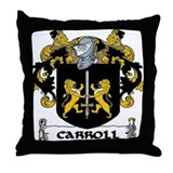 Carroll Coat of Arms Throw Pillow