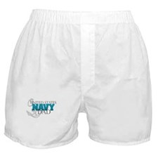United States Navy Dad Boxer Shorts