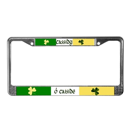 Cassidy Coat of Arms License Plate Frame