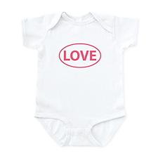 Pink LOVE Oval Infant Bodysuit
