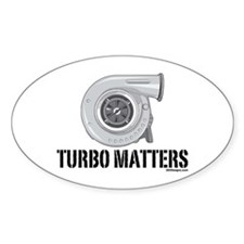 Turbo Matters Oval Decal