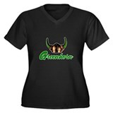 Greenhorn Women's Plus Size V-Neck Dark T-Shirt