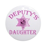 Deputy's Daughter Ornament (Round)
