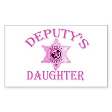 Deputy's Daughter Rectangle Decal
