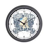 Polar Bear Rhode Island Wall Clock