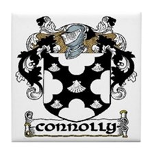 Connolly Coat of Arms Tile Coaster