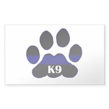 K9 Thin Blue Rectangle Decal