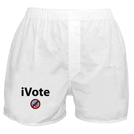 iVote No Obama Boxer Shorts