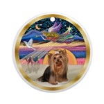XmasMagic-Yorkshire Terrier #7 Ornament (Round)