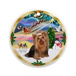 XmasMagic/Yorkshire Terrier #7 Ornament (Round)