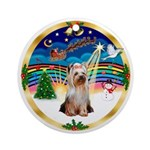 XmasMusic3-Yorkshire Terrier #2 Ornament (Round)
