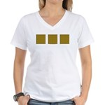 Yellow Latticework Women's V-Neck T-Shirt