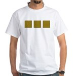 Yellow Latticework White T-Shirt