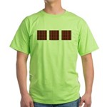 Orange And Yellow Latticework Green T-Shirt