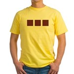 Orange And Yellow Latticework Yellow T-Shirt