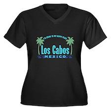 Los Cabos Happy Place - Women's Plus Size V-Neck D