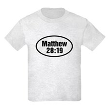 Matthew 28:19 Oval T-Shirt