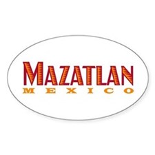 Mazatlan Mexico - Oval Decal