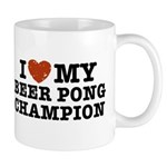 I Love My Beer Pong Champion Mug