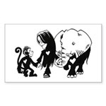 Gillian and Friends Sticker (Rectangular)